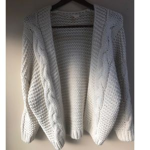Cozy chunky knit cardigan